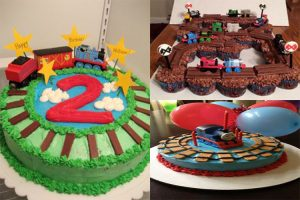 1-	Train shaped birthday cakes